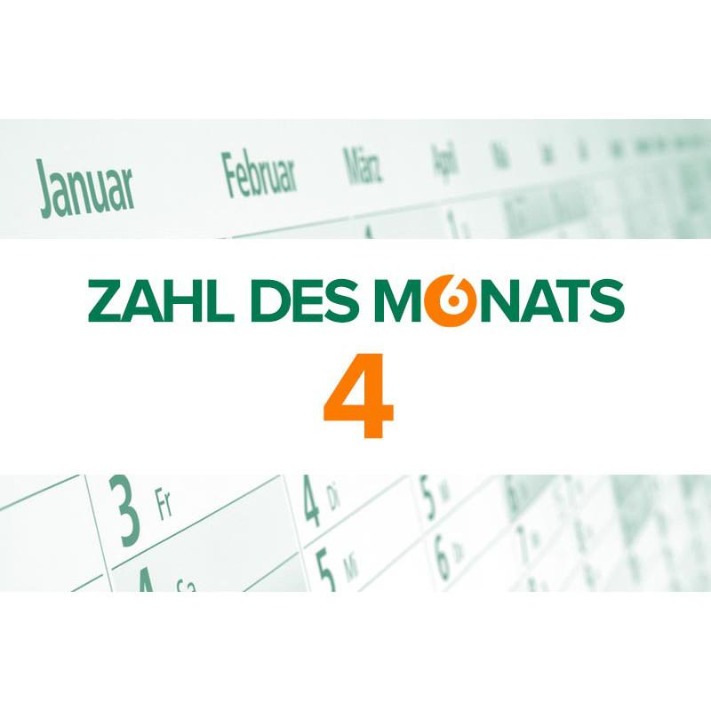 Zahl des Monats: 4
