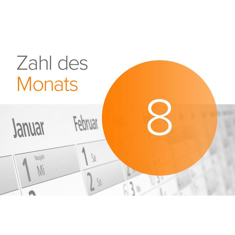 Zahl des Monats: 8